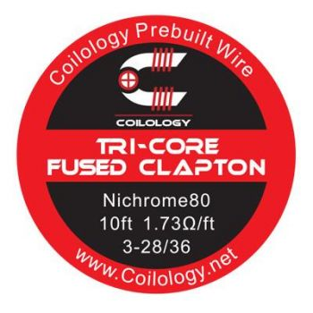Coilology Tri-Core Fused Clapton Ni80 Wire (3m)